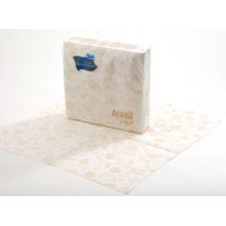 Ubr. Damaszt textil 1vr. , 38x38 , 30 ks, luxus potisk
