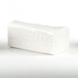 Papír. ručníky ZZ 2vr., 25x23cm, 3000ks, celuloza, bílé