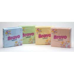 Ubr. Bravo 3vr. , 33x33 , 30ks,  4 barvy