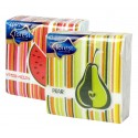 Ubr. Frutta 1vr. , 30x30 , 45 ks, potisk mix 4 druhy